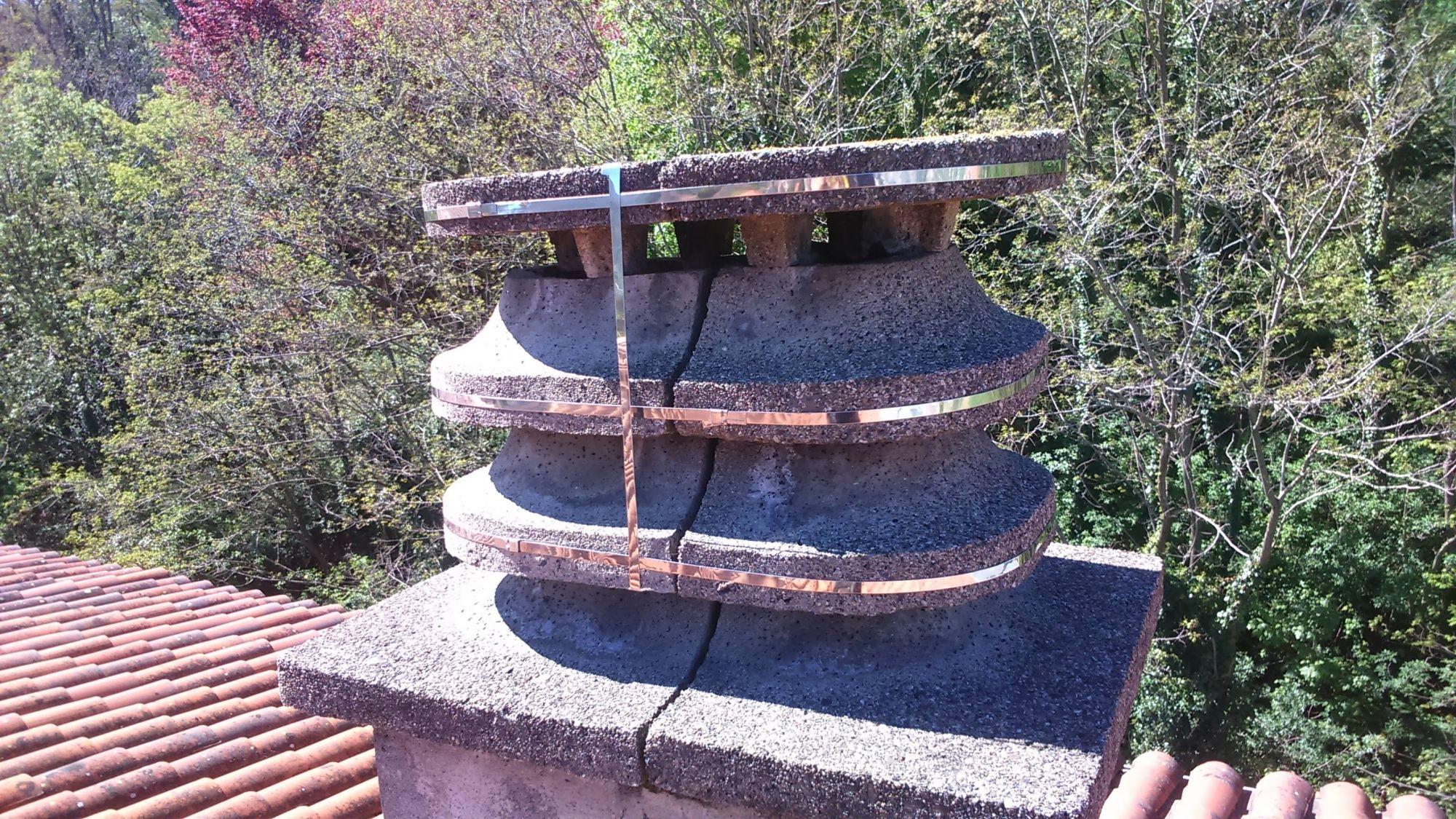 Travaux de mise en sécurité - cerclage de cheminée