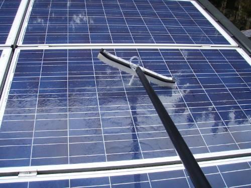 Nettoyage en hauteur - Panneaux solaires